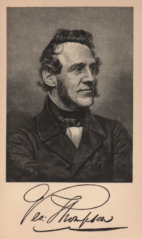 George Thompson, at age 47, in 1850-1851