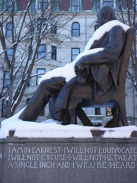 Statue of William Lloyd Garrison in Boston