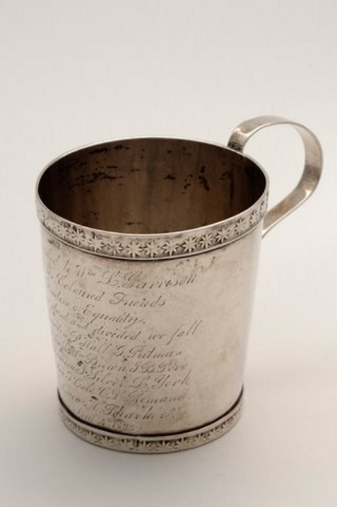 Silver Cup presented to Garrison by his coloured friends - April, 1833