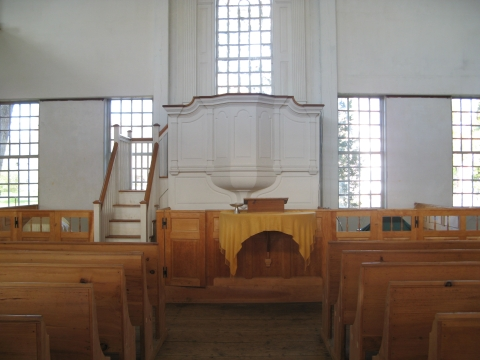 Interior of the Unitarian Church, Brooklyn, Connecticut.